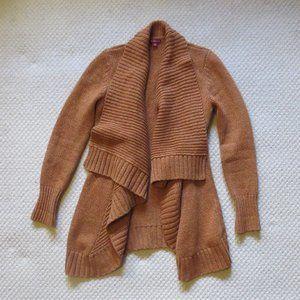 Merona Long Open Front Cardigan Sweater Orange S/P
